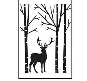 Darice- Embossingfolder - Deer in forest