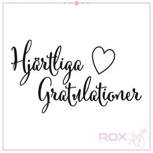 Hjärtliga gratulationer
