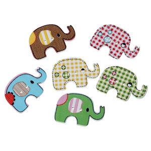 5 st knappar - elefant.