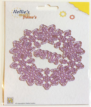 Nellie Snellen - Multi frame die - Christmas wreath: Xmas