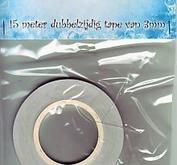 Dubbelhäftande 3 mm tejp - Nellie Snellen