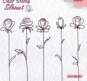 Nellie Snellen - Clearstamp -5-flowers