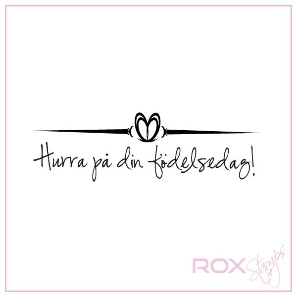 på din födelsedag Hurra på din födelsedag med hjärta   Rox Stamps på din födelsedag