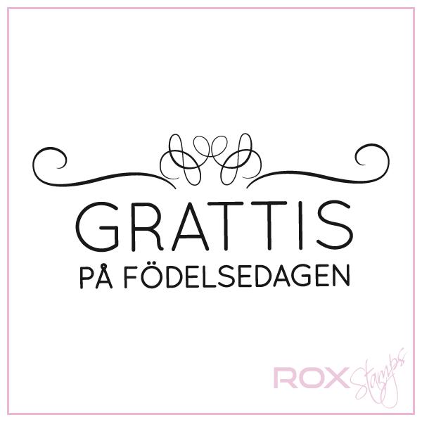grattis sångtext Grattis med snygg swirl   Rox Stamps grattis sångtext